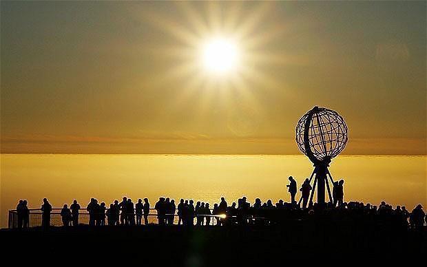 tramonto a Capo Nord